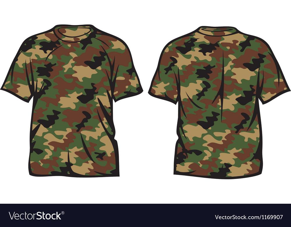 Military t-shirt vector