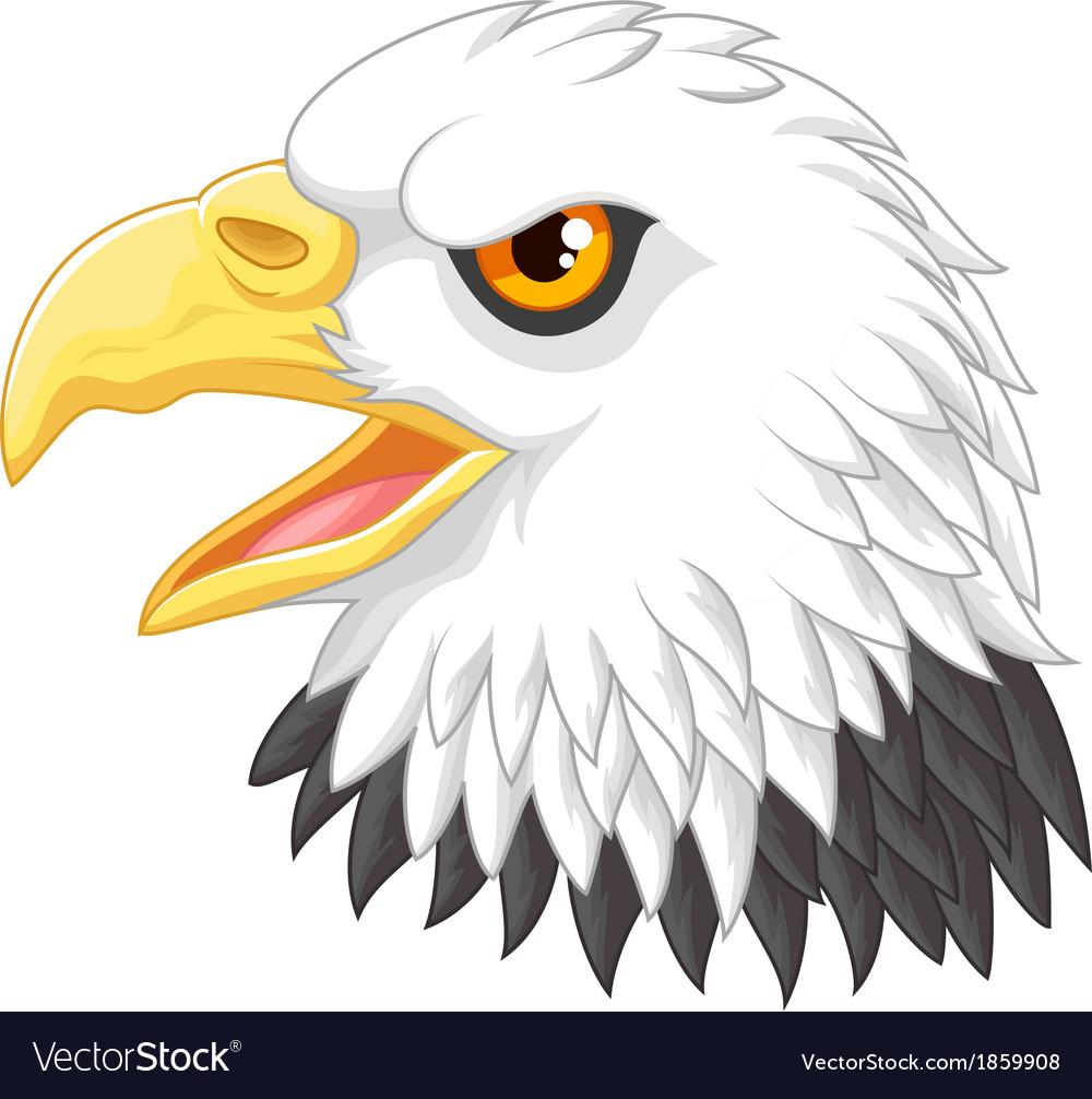 Eagle head mascot cartoon vector