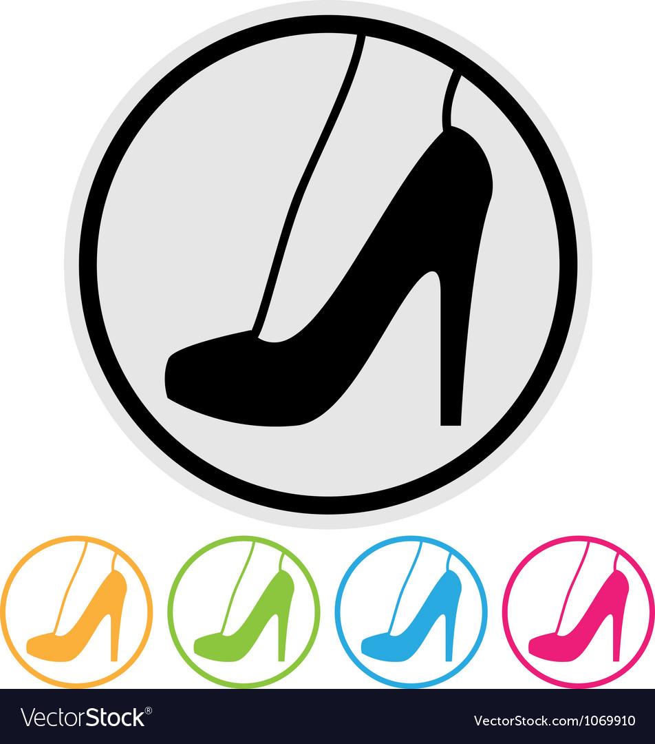 High heel shoe icon vector
