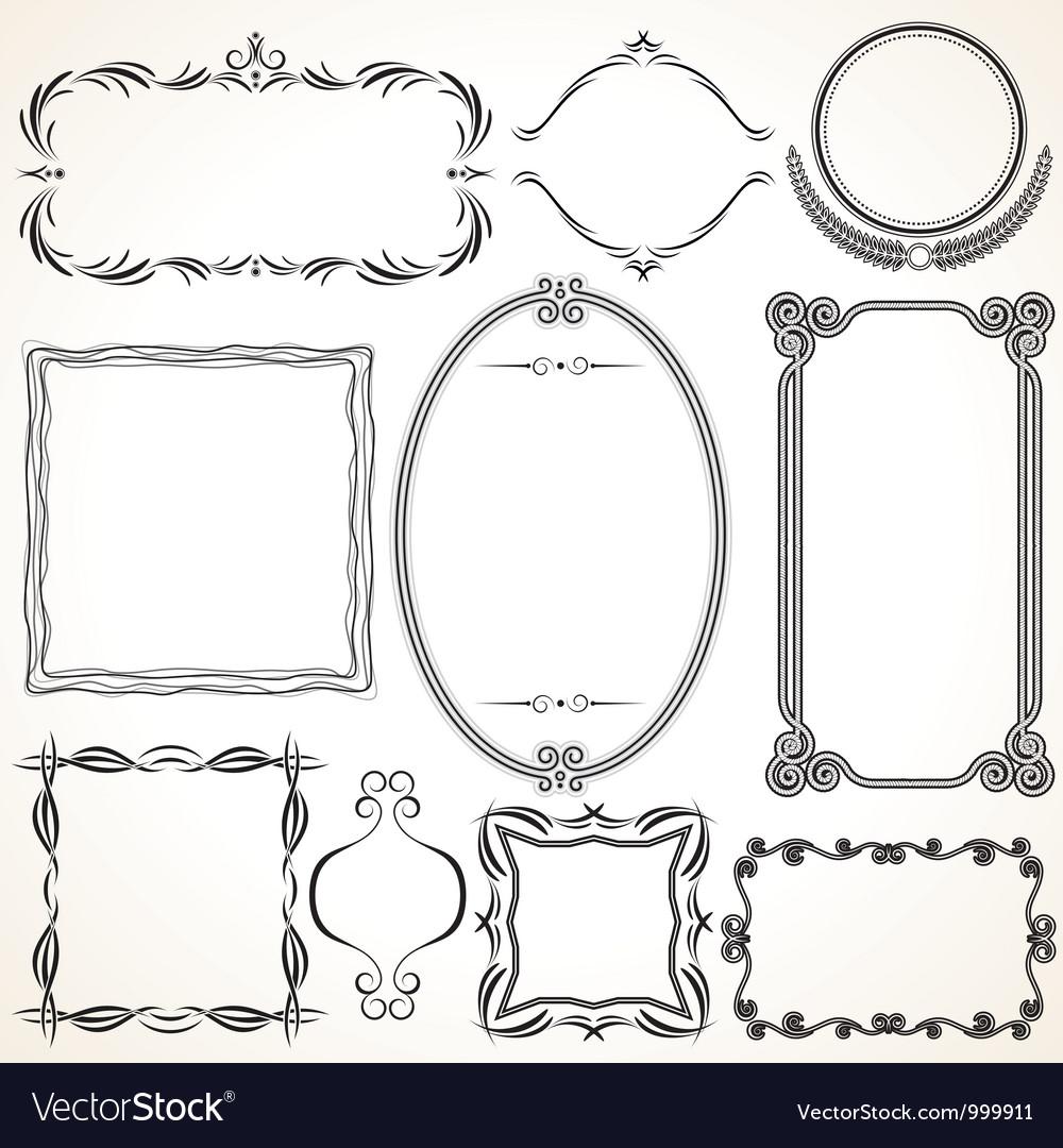 Design ornamental vintage borders and frames vector