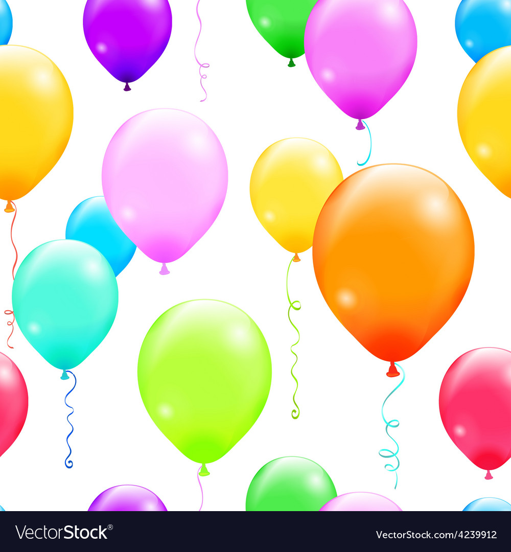 Colorful balloons seamless pattern vector
