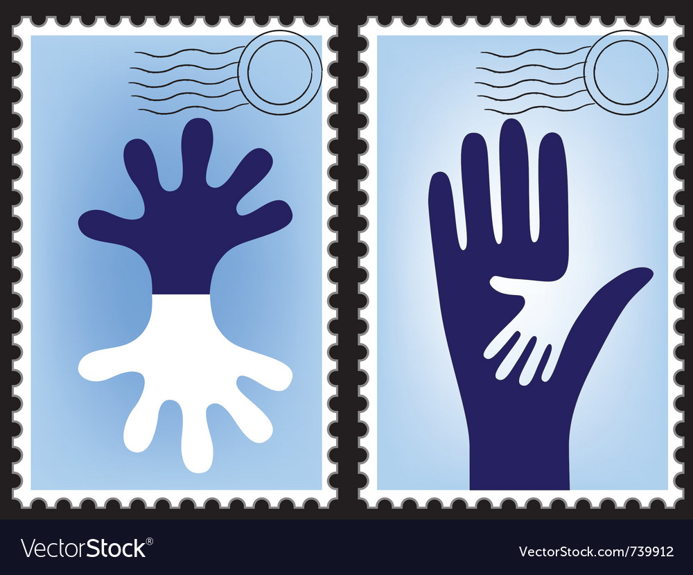Postage stamp postcard vector