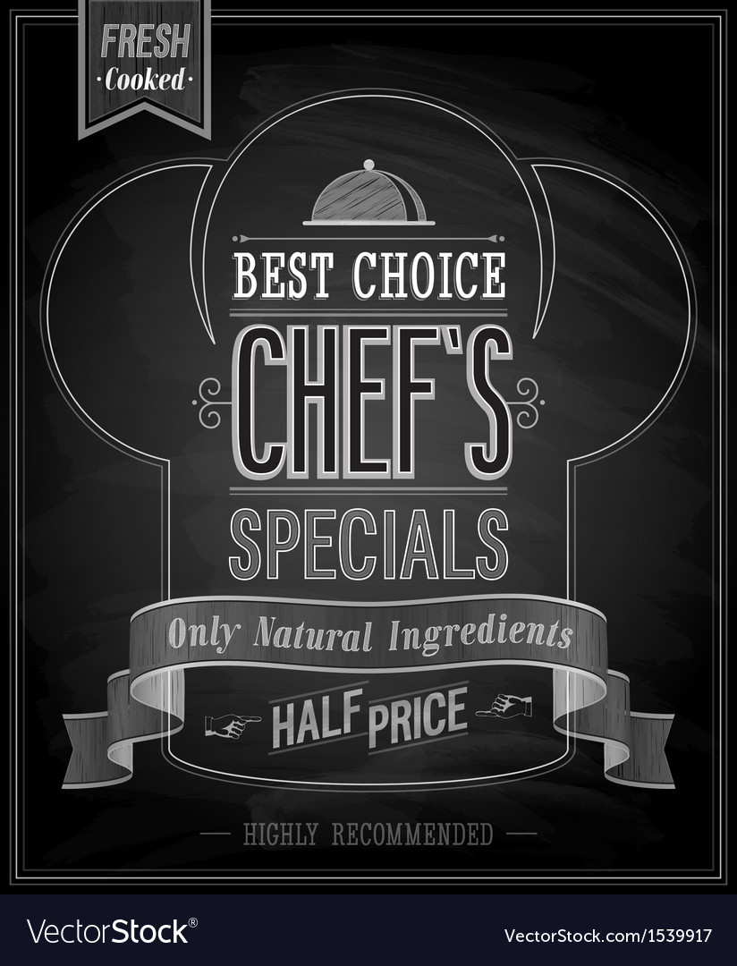 Chefs special vector