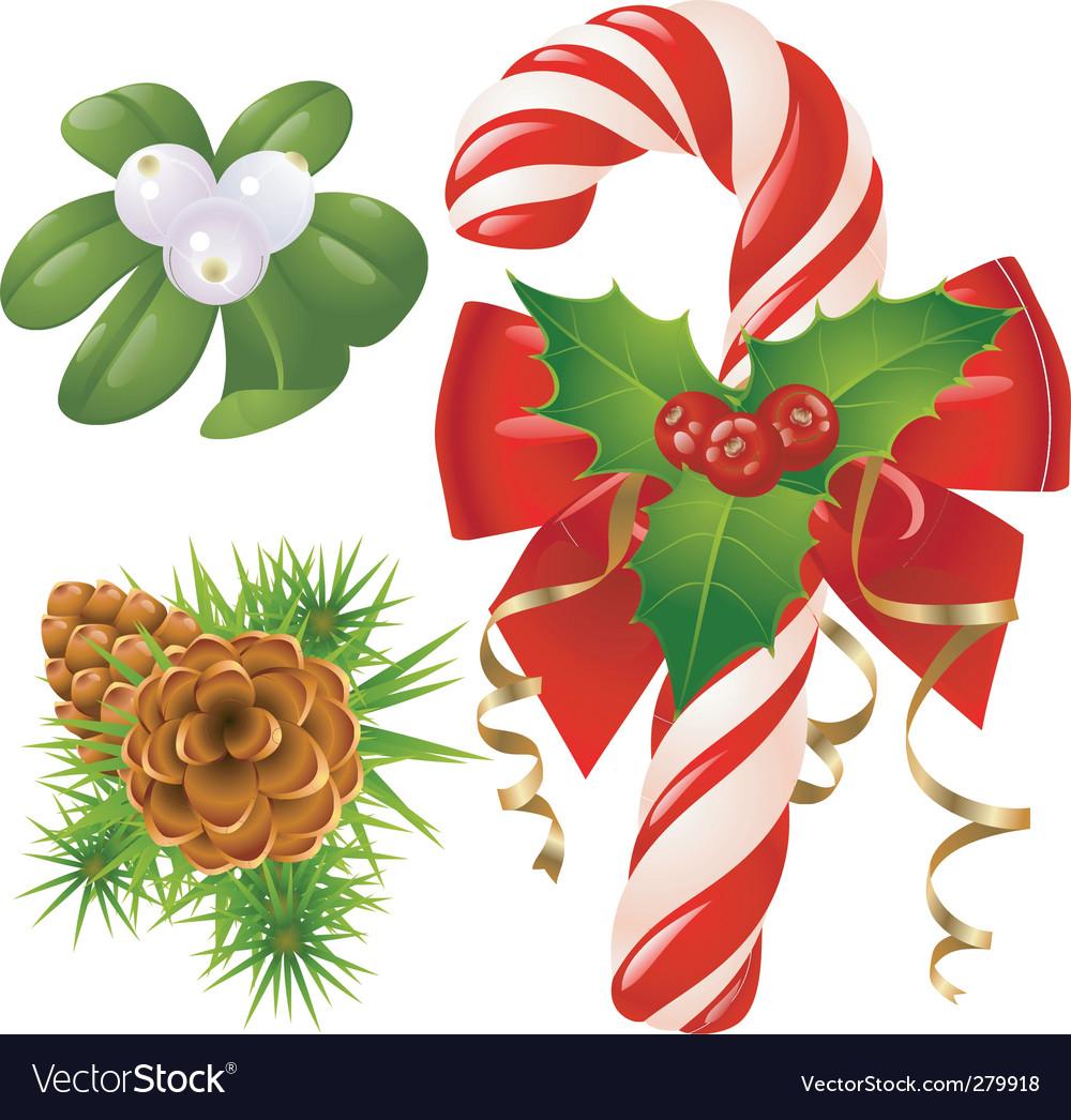 Candy cane christmas tree mi vector