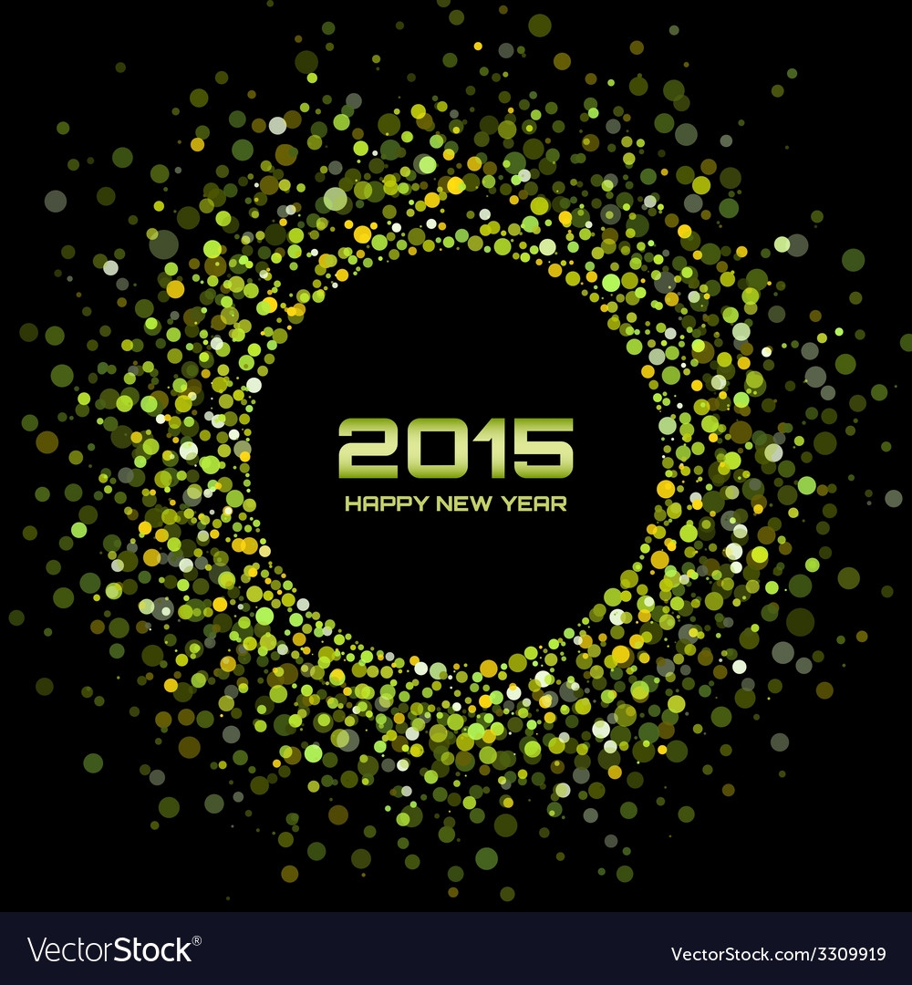 Green bright new year 2015 background vector
