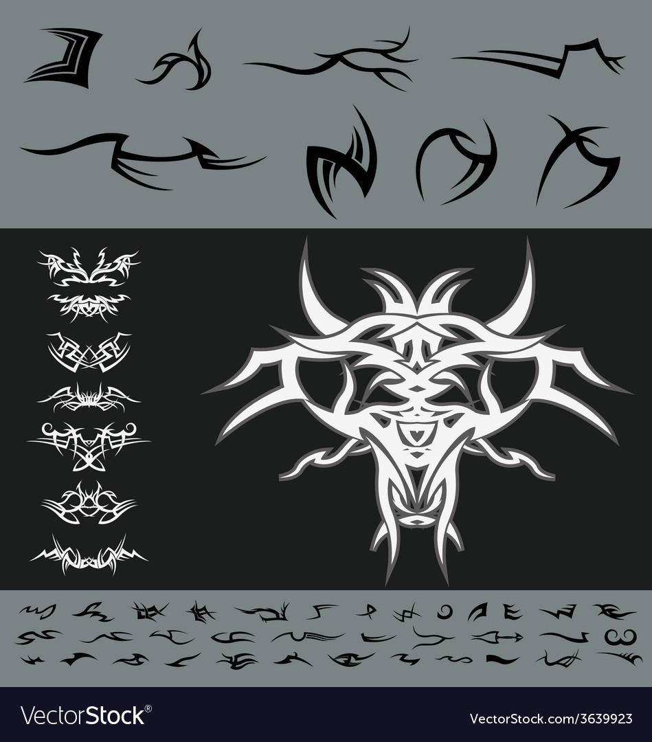 Tribal diy design pack vector