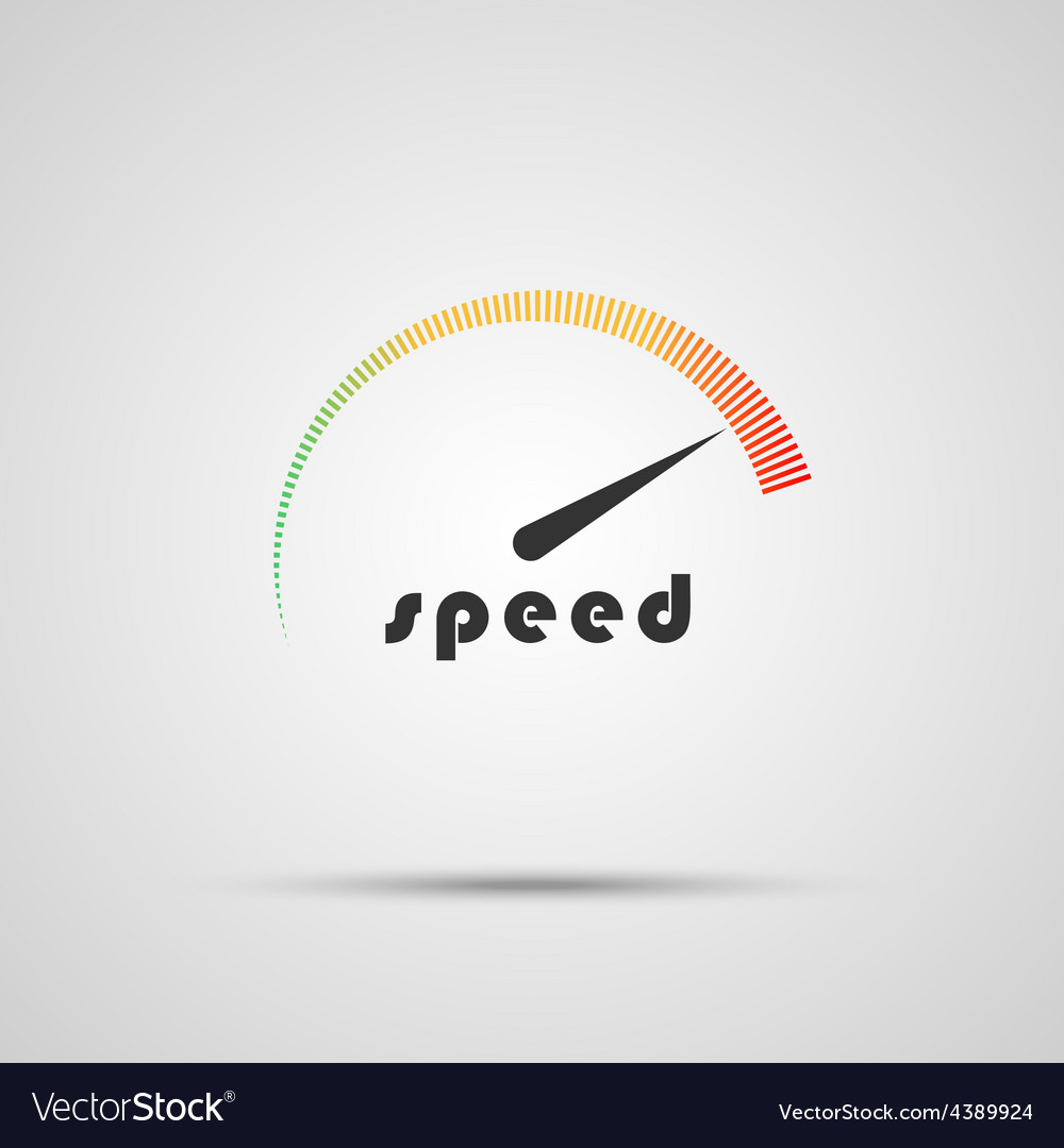 Speedometer icon logo company internet speed vector