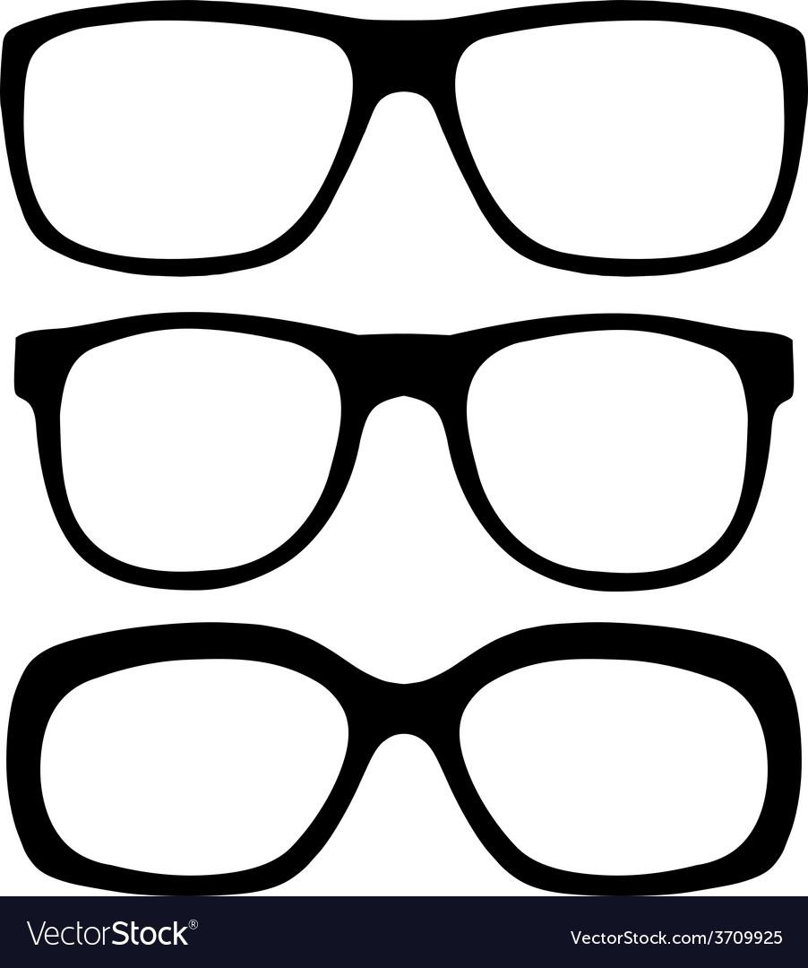 Eyeglasses set vector