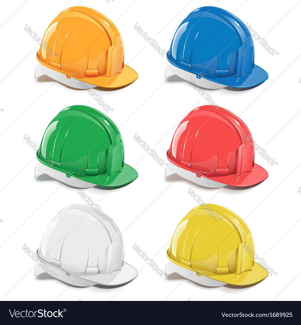 Helmet icons vector