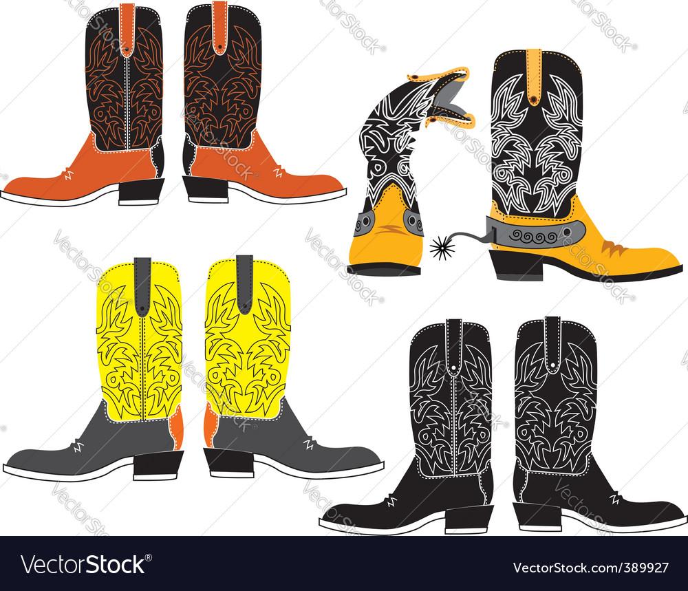 Shoes cowboy vector