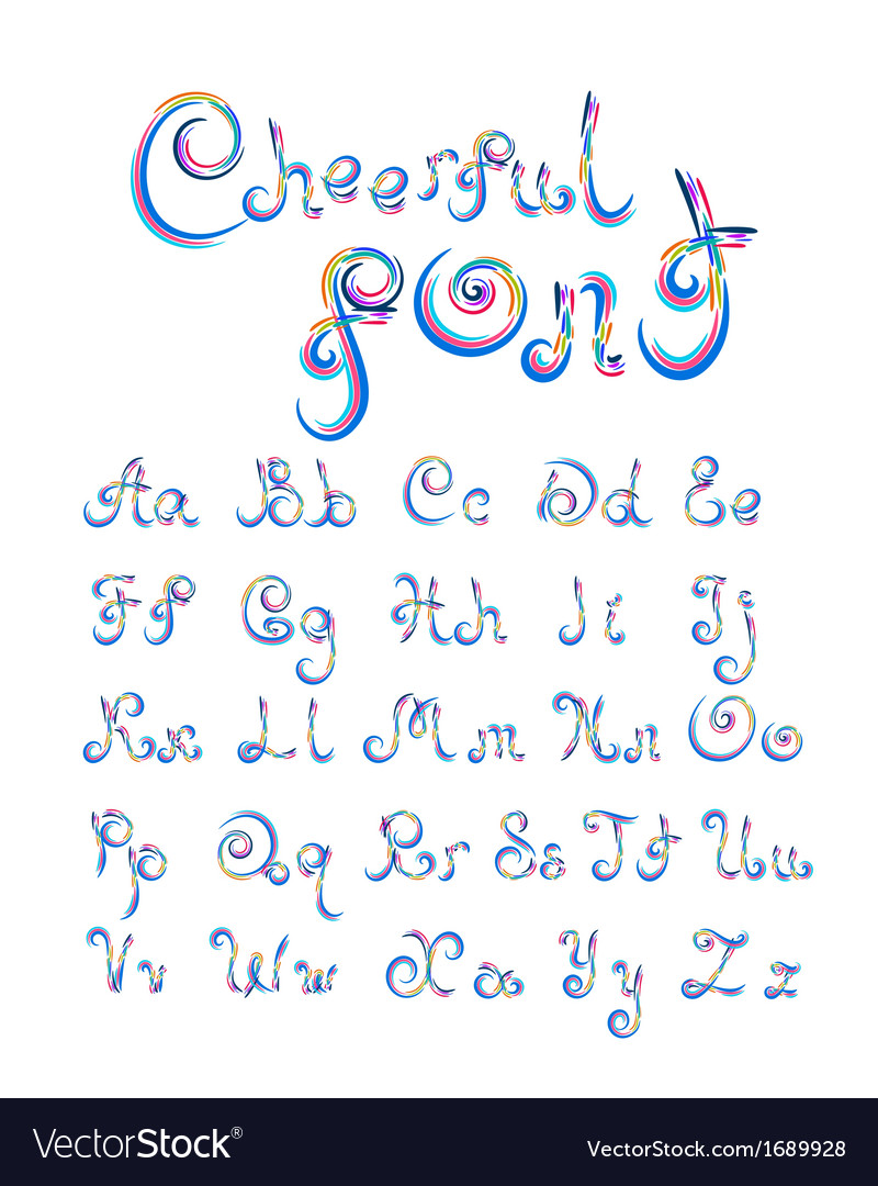 Cheerful font vector