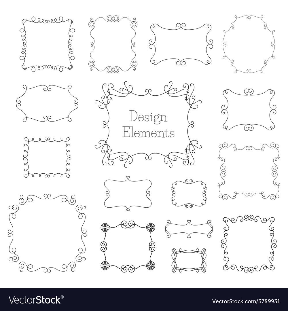 Vintage frames and decoration elements vector
