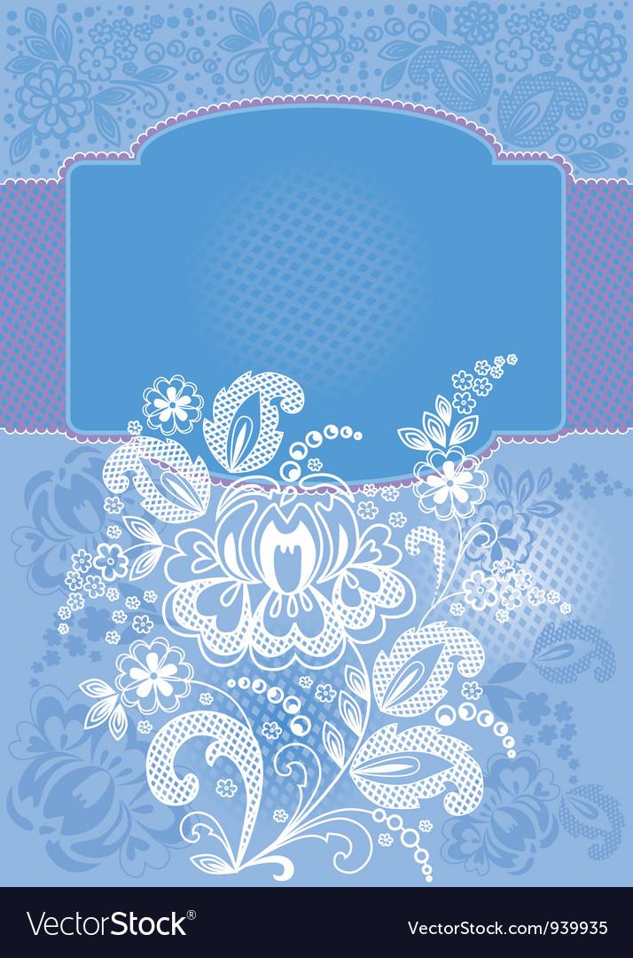 Decorative floral blue background vector