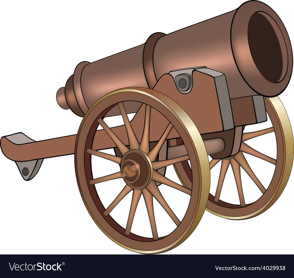 A video game object cannon vector