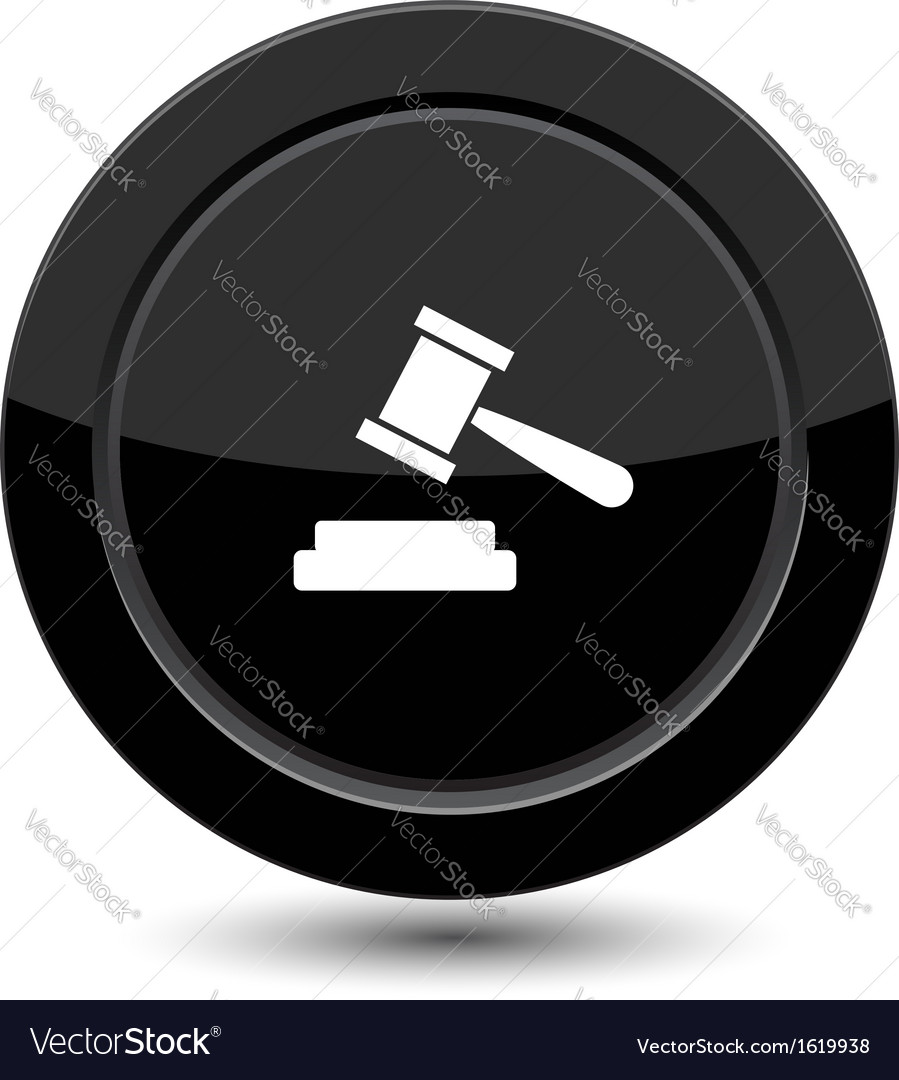 Button with court sign vector