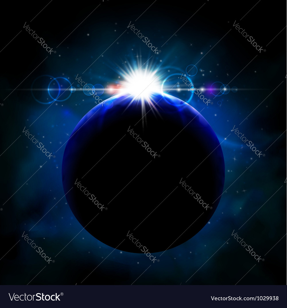 Planet from space vector