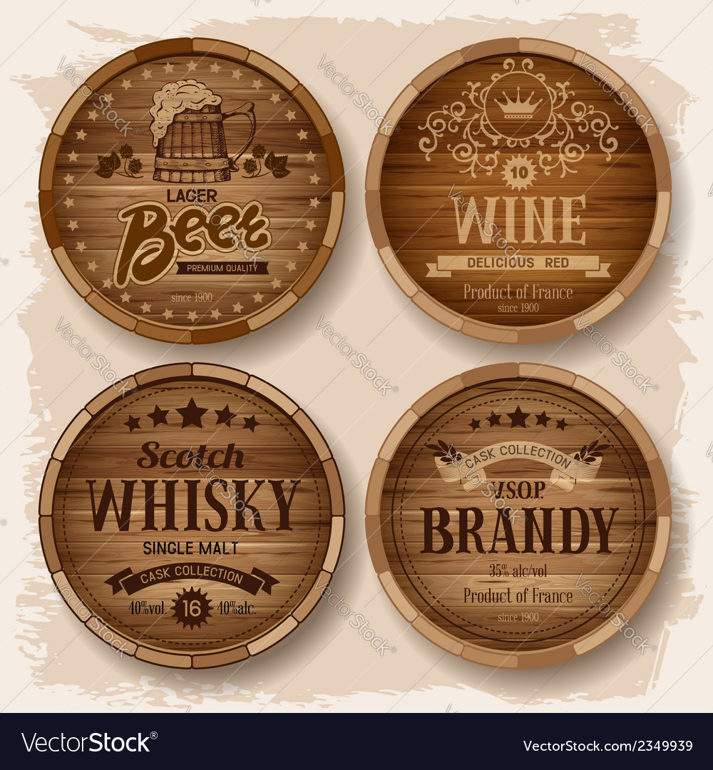 Barrel label vector