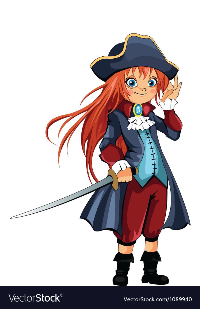 Girl-pirate vector