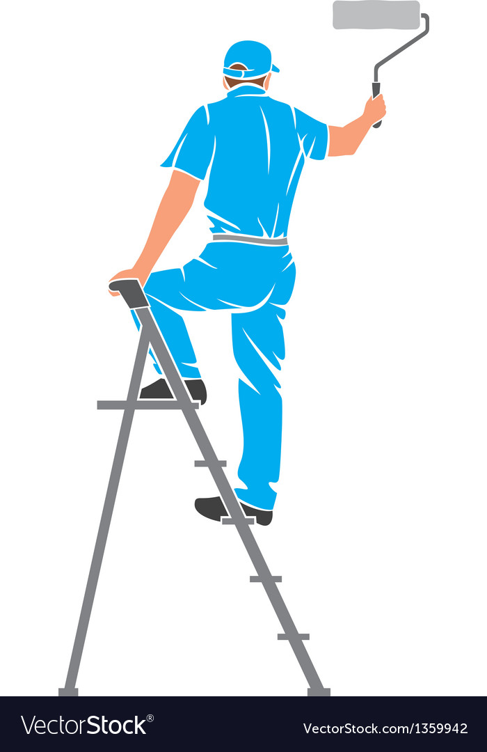 A man painting the wall vector