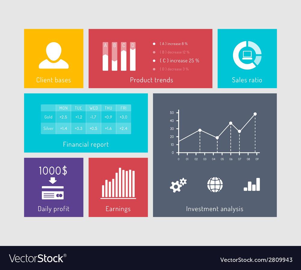 Financial flat elements vector