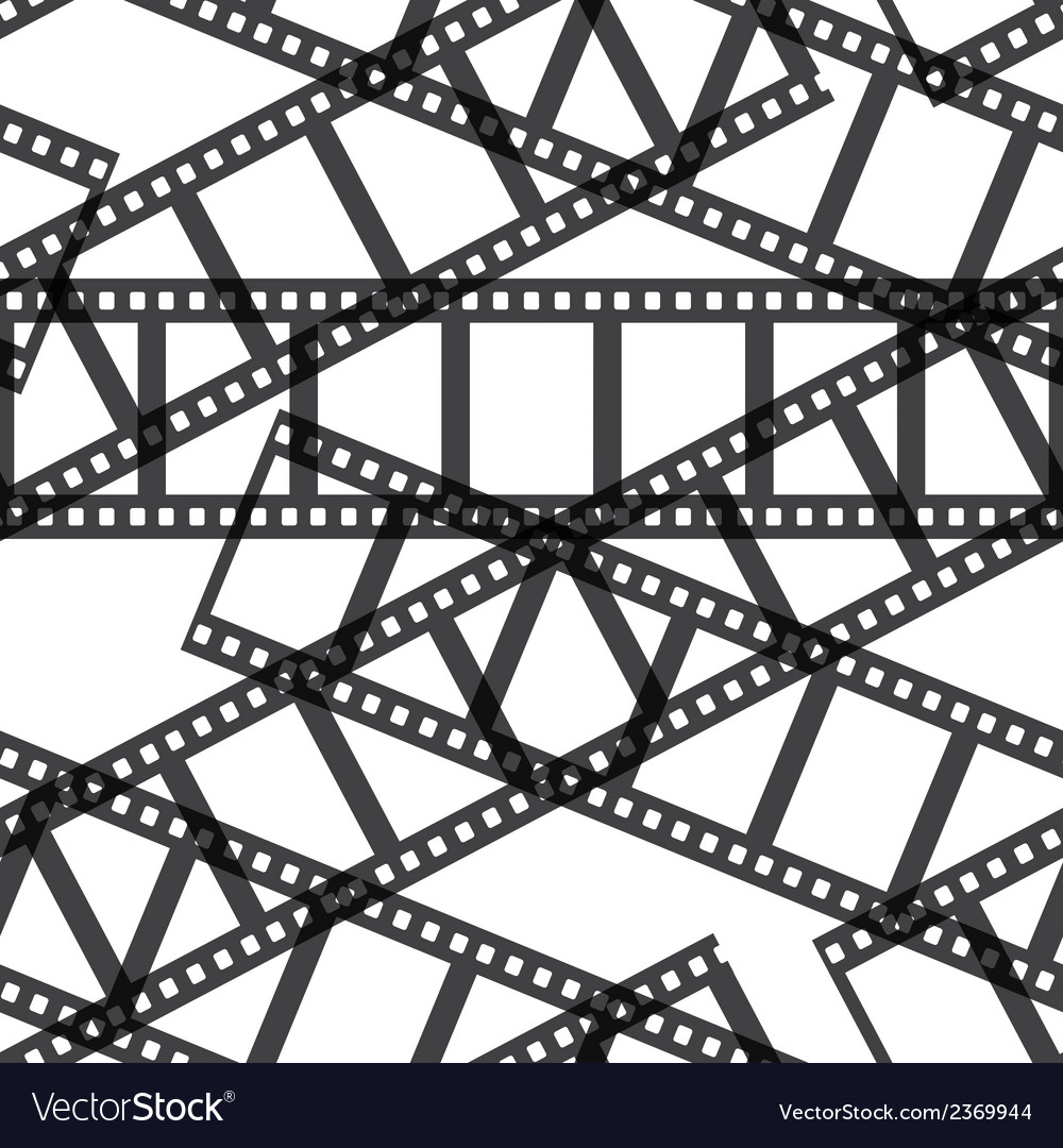 Film reel seamless vector