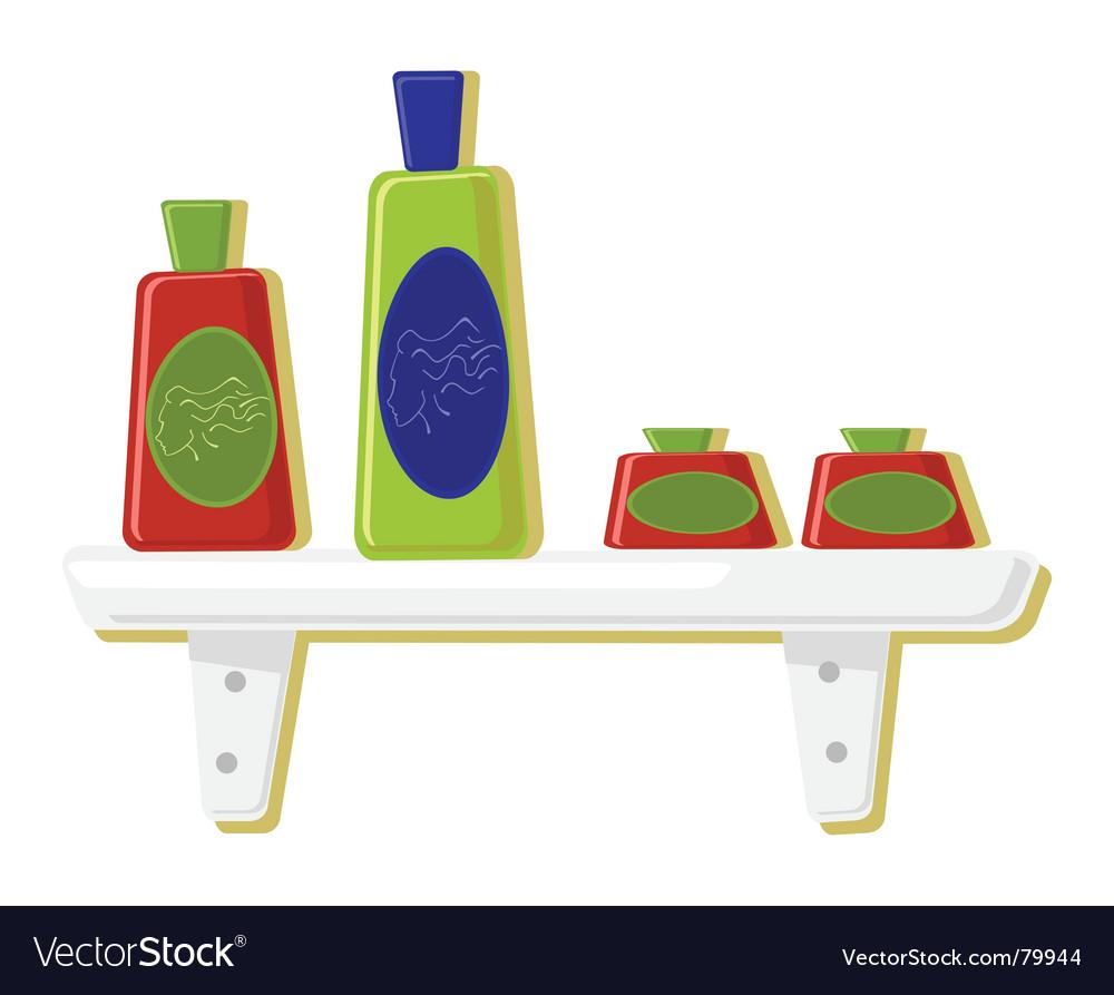 Illustration of perfume bottles vector