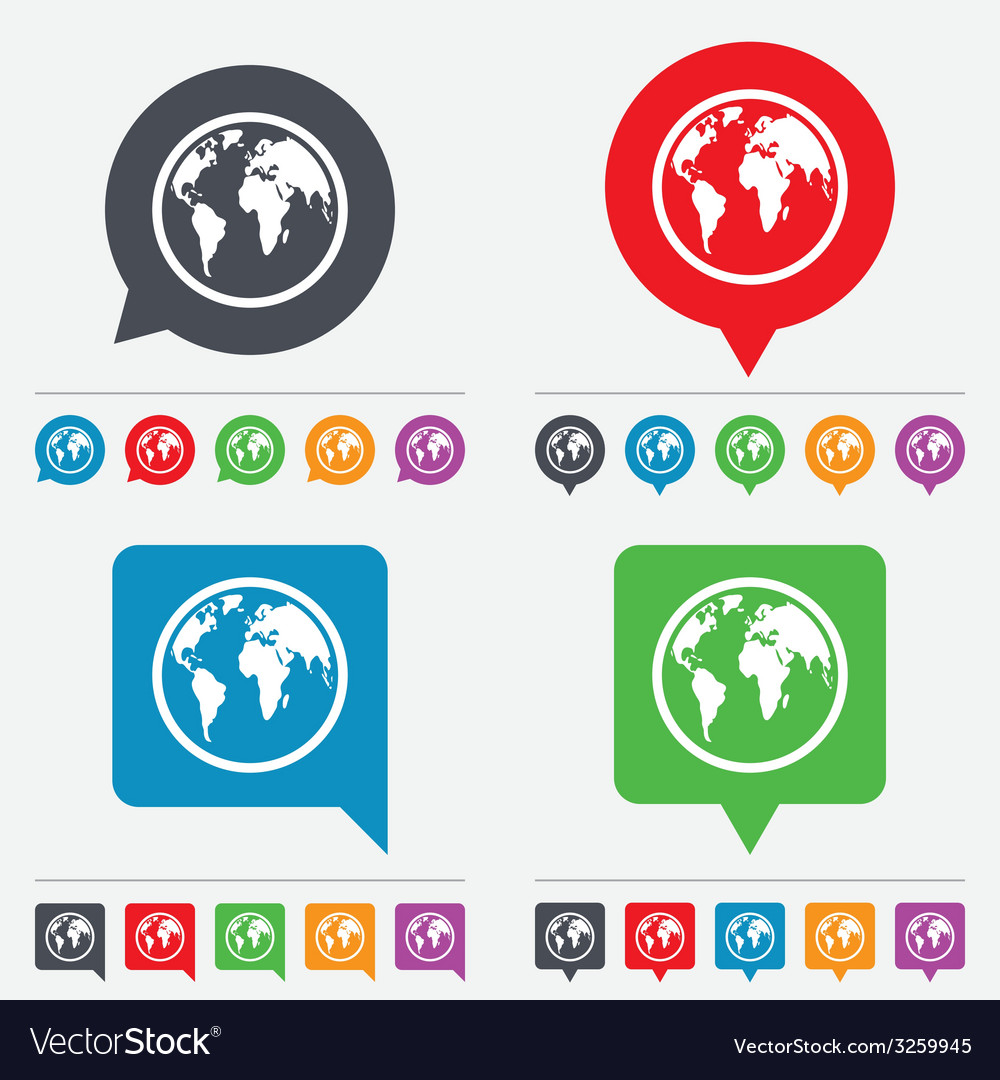 Globe sign icon world map geography symbol vector