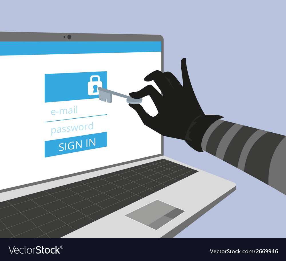 Hacking account of social networking vector