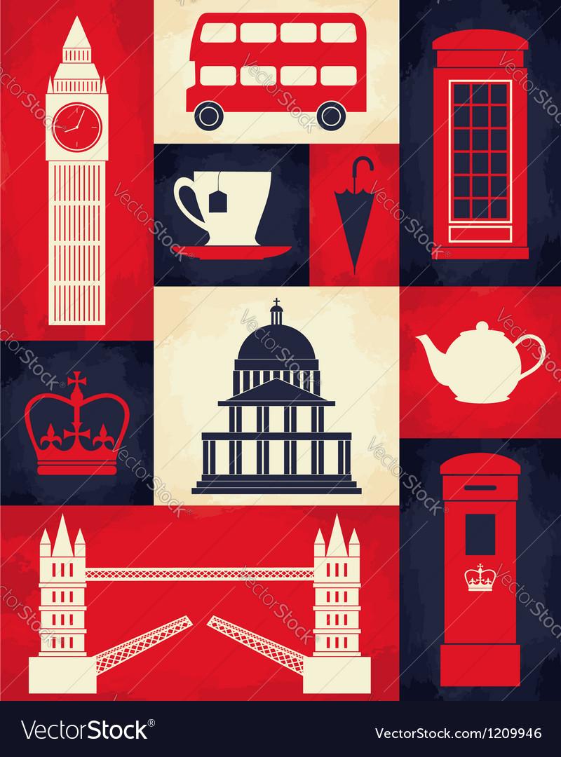 Retro london poster vector