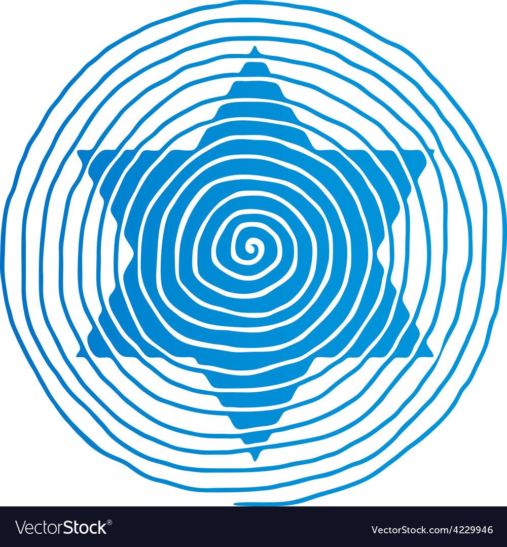 Spiral david star vector