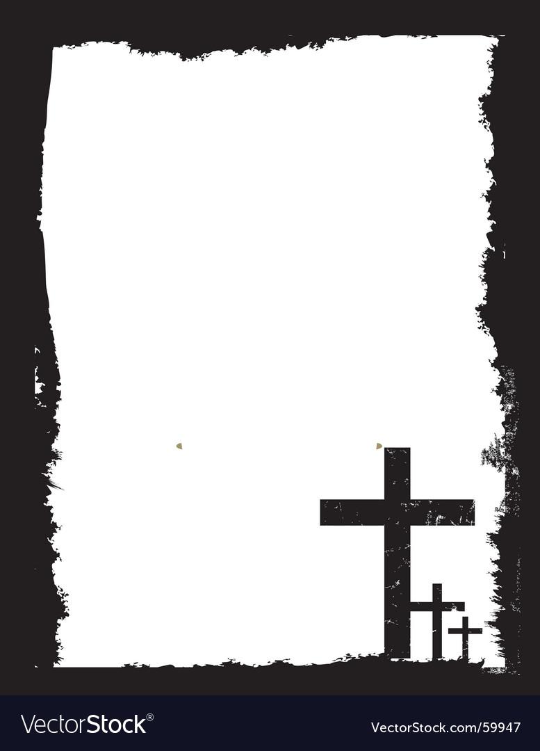 Easter grunge vector