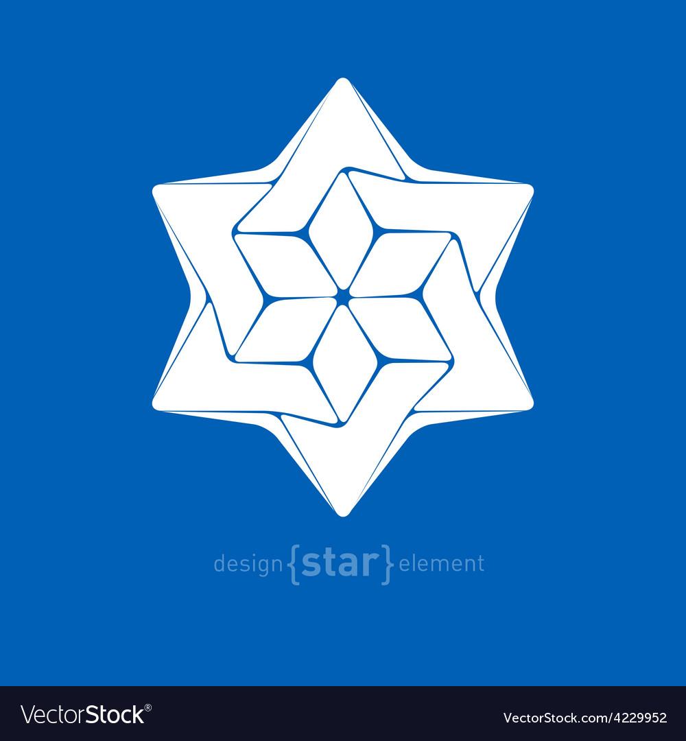 Star david mono vector