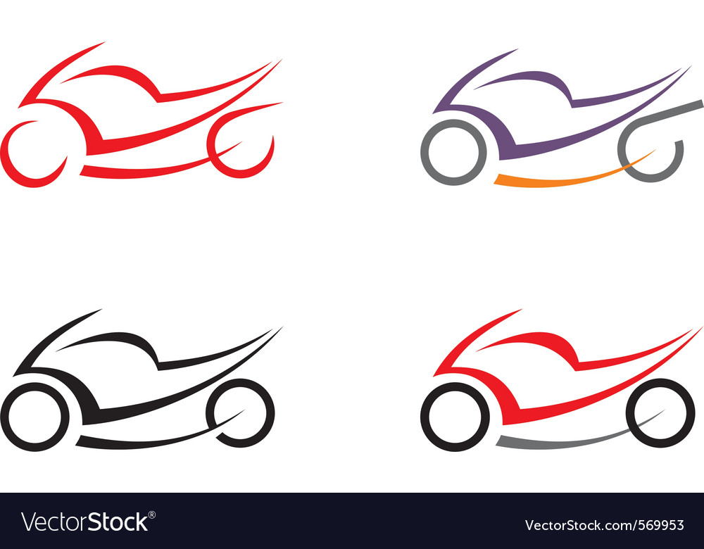 Motorcycle icons vector