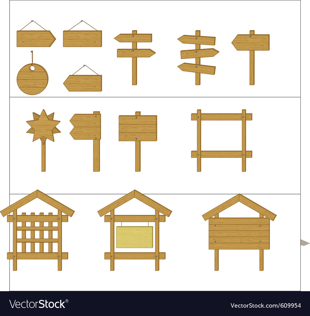 Billboards and signs vector