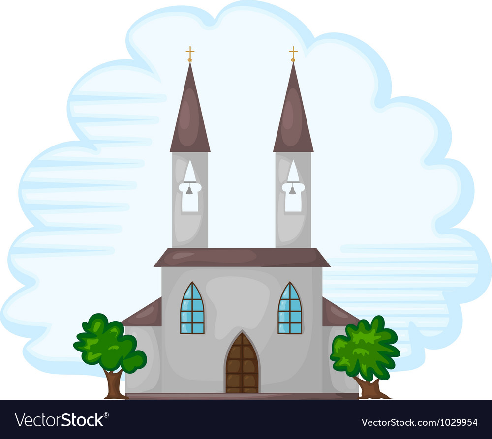 Temple church background vector
