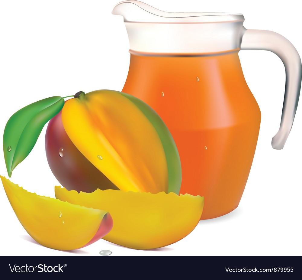 Mango juice vector