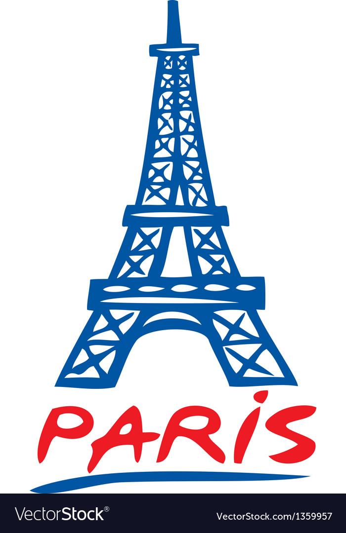 Paris eiffel tower design vector