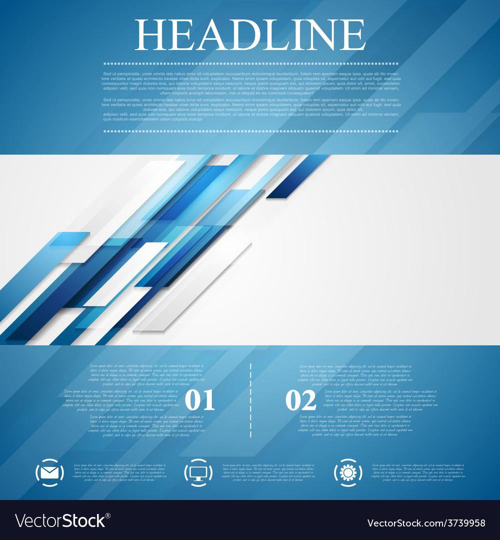 Blue shiny hi-tech flyer background vector