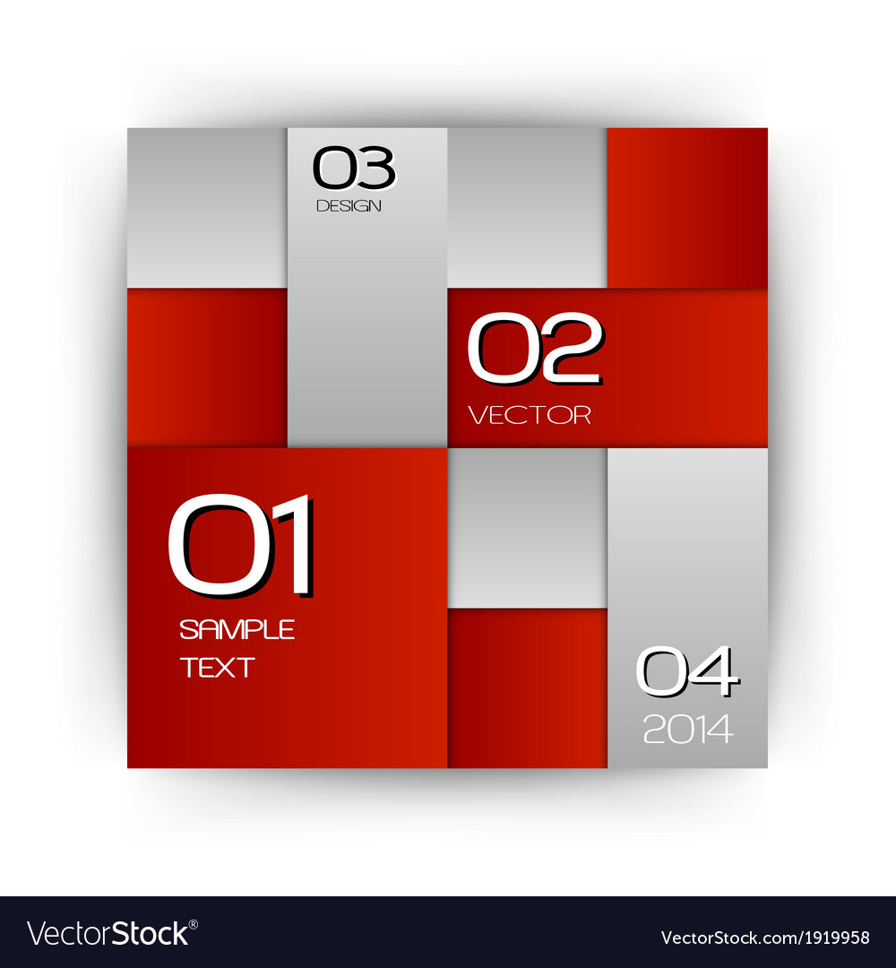 Business squares red with text vector