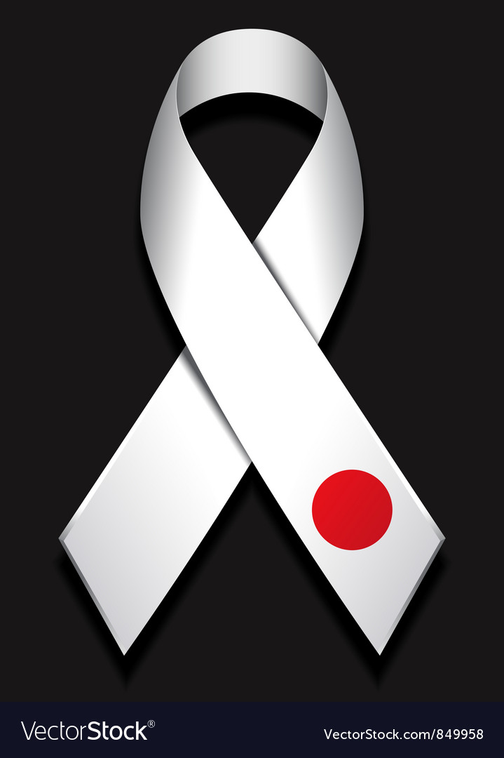 Ribbon for japan vector