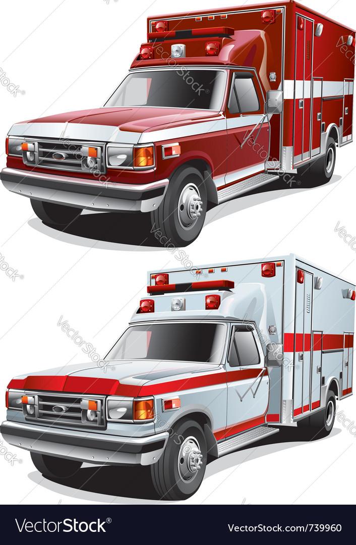 Municipal ambulance vector