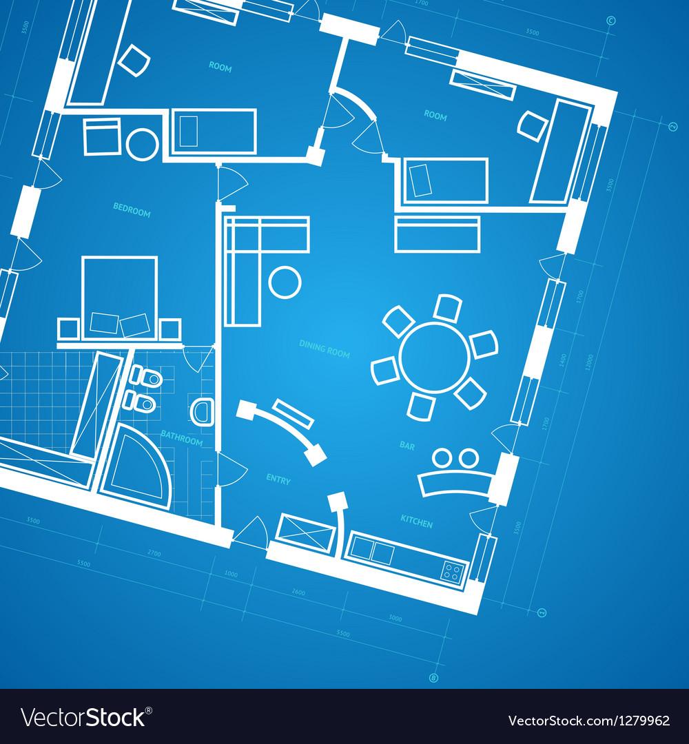 Blueprint background vector