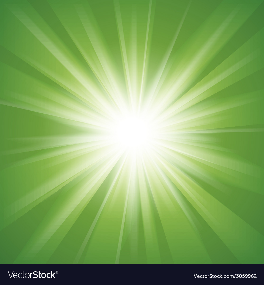 Green and white abstract magic light background vector