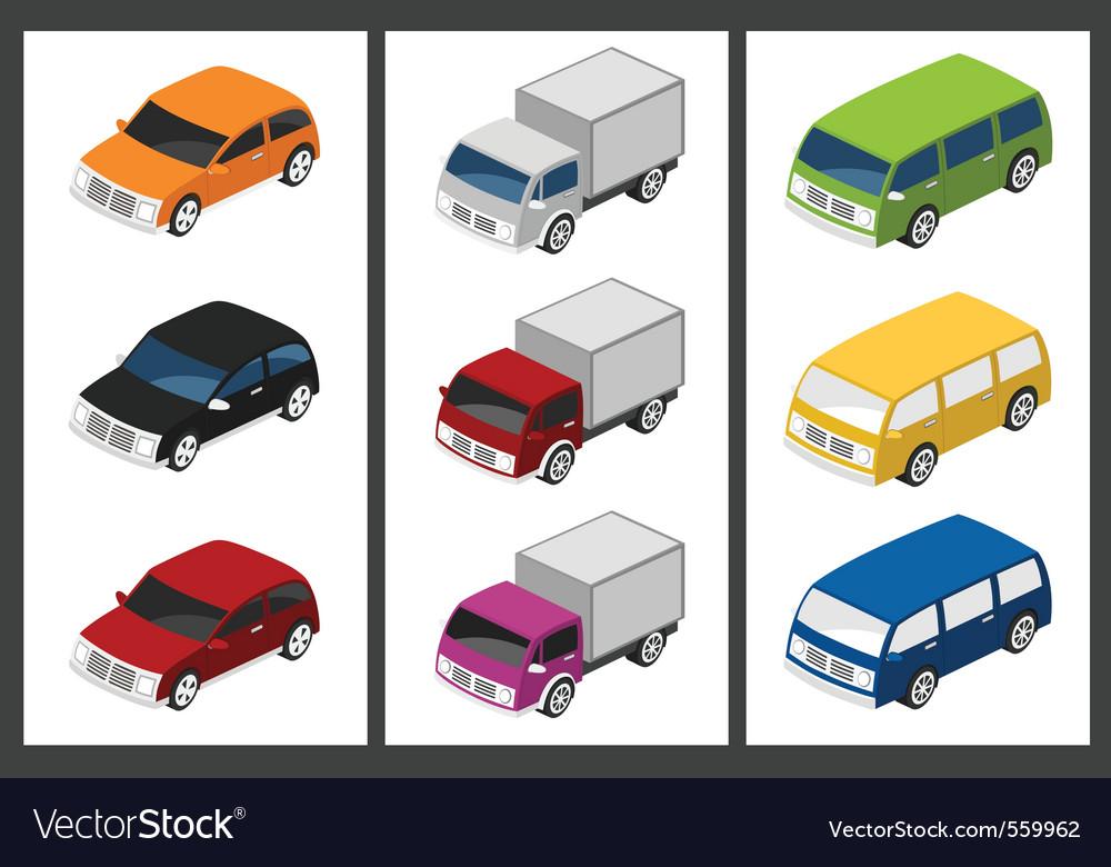 Isometric car vector