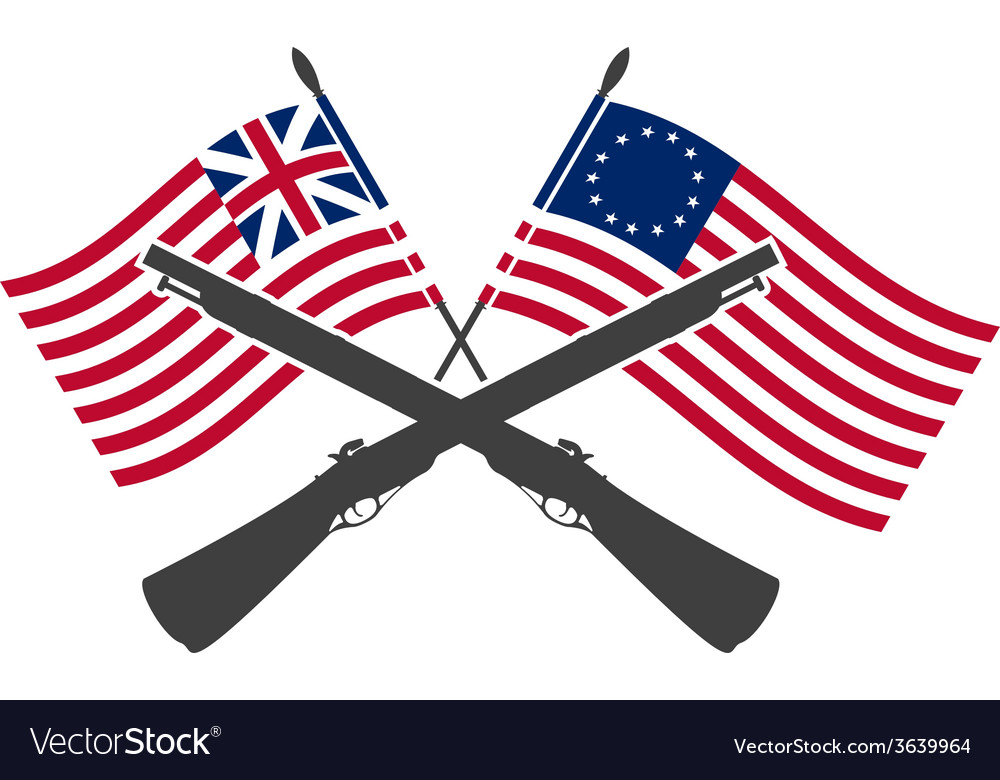 American war of independence vector
