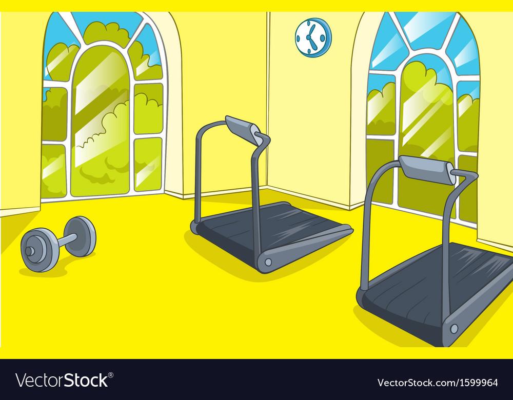 Gym room vector