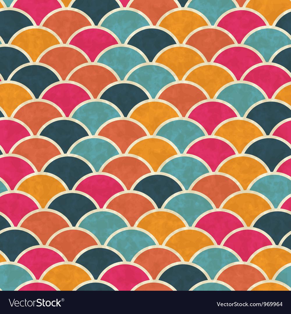 Retro seamless geometric pattern vector