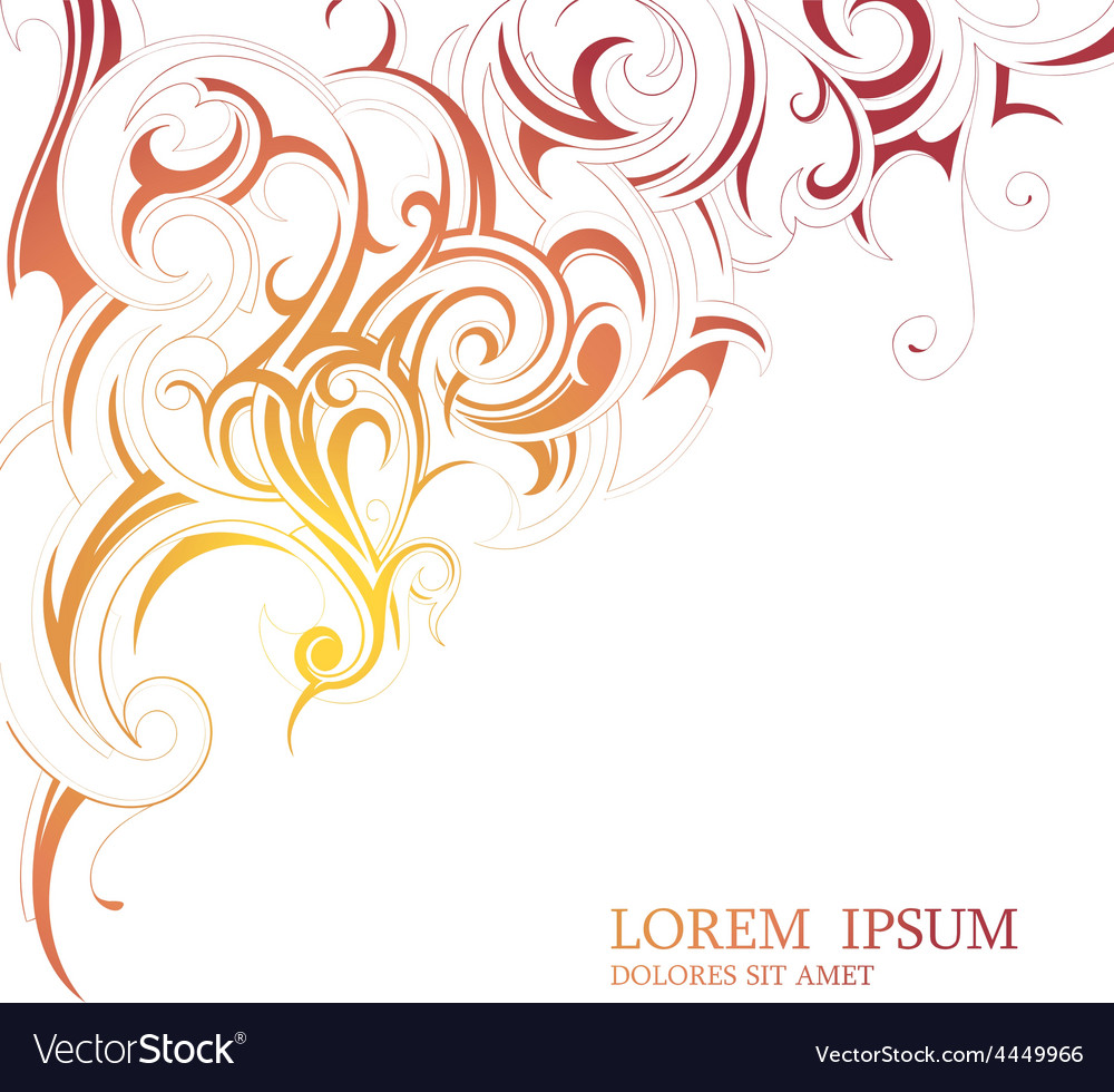 Floral backdrop with copy space vector