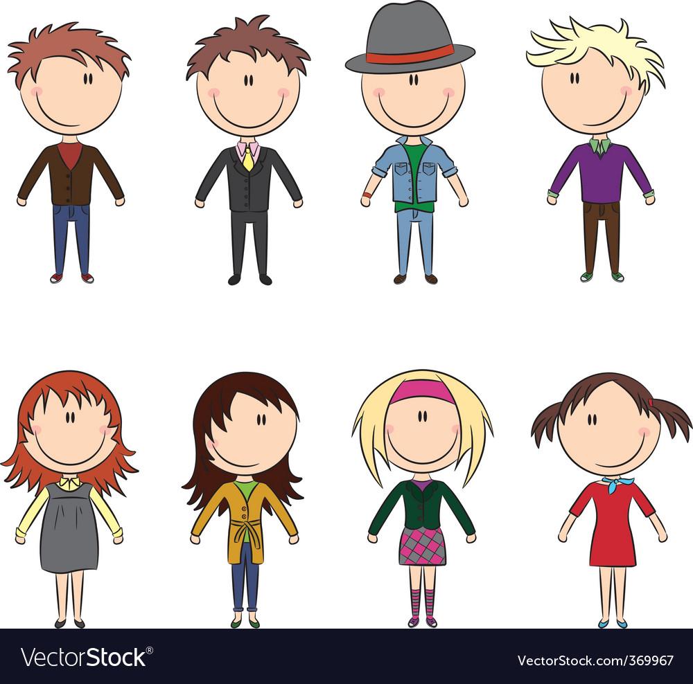 Cartoon people vector