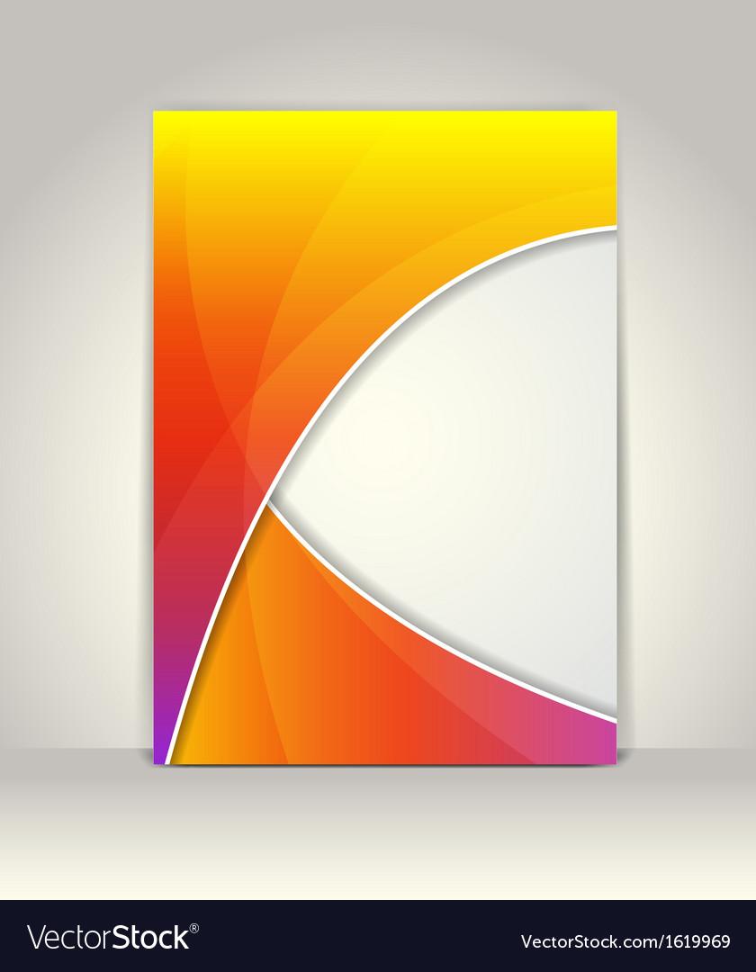 Flyer or brochure template vector